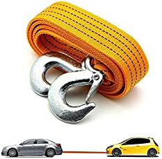 Autofier 3 Ton Nylon Car Truck Towing Rope Cable for Heavy Duty Car Emergency Tow Pull Rope Strap Hooks Van Road Recovery for Maruti Suzuki Vitara Breeza