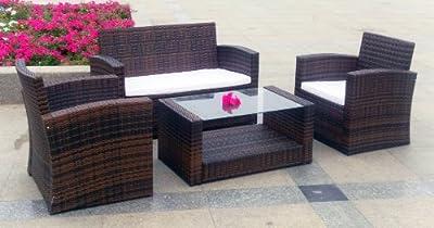 Venezia Rattan Lounge Gartenmöbel Set 2 Farben wählbar