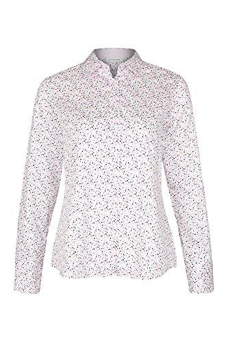 eterna Langarm Damen Bluse MODERN Classic Bunt Bedruckt aus 100% Baumwolle, Grösse:34