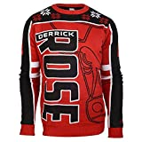 Chicago Bulls Derrick Rose #1 Crewneck NBA Ugly Sweater M