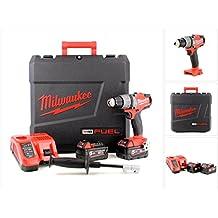Milwaukee M18FDD 502C 18V Brushless batería atornillador (2x 5Ah Red batería de ion de litio, carga, maletín (4933451254)