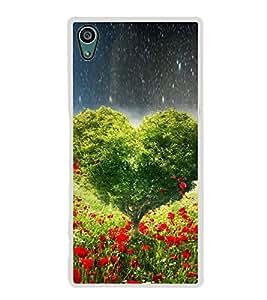 Fuson Designer Back Case Cover for Sony Xperia Z5 :: Sony Xperia Z5 Dual 23MP (Love Love Hearts Infactuation Greenery garden)