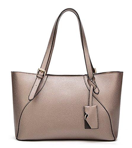 Faux Leder Magazin (Oruil große Kapazität Frauen Handtasche mit Top Griff PU Faux Leder Zip Tote Bag geeignet für das Tragen Magazin (Gold))