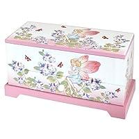 Lionite Mele Girls Pink Fairy Musical Jewellery Trinket Box With Rotating Ballerina