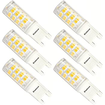 Albrillo G9 LED Bulb 3.5W, 40 Watt Halogen Bulbs Equivalent, Non ...