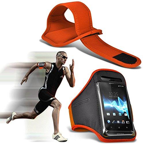 Preisvergleich Produktbild (Orange 155,6 x 72,1 mm) Motorola Moto X4 Falqualität Ausgestattet Sport Armbinden Laufen Rad Radfahren Jogging und Fitnessstudio Ridding Arm-Band-Gehäusedeckel i-Tronixs