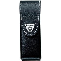 VICTORINOX Etui de ceinture en cuir noir jusqu' 6 paisseurs