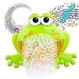 Ideapark Bubble Machine Badewanne, Baby Badewannenspielzeug, Frösche Bubbler Spielzeug Seifenblasenmaschine with 12 Musik Automatisch Badewanne Spielzeug für Baby Kleinkind Geschenk (Frosch)