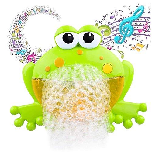 ine Badewanne, Baby Badewannenspielzeug, Frösche Bubbler Spielzeug Seifenblasenmaschine with 12 Musik Automatisch Badewanne Spielzeug für Baby Kleinkind Geschenk (Frosch) ()