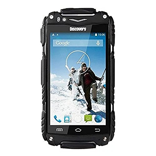 Hipipooo-Discovery V8 Wasserdichtes Staubdichtes Shakeproof Smartphone Rugged Android 4.4 3G Unlocked Handy 4,0 Zoll Mtk6572 Daul-Core, Dual SIM Card Slot(Schwarz) Discovery-handy