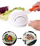 New Salad Cutter Bowl Cuillère à salade Cuillère à légumes Cuillère à légumes Cuillère à salade 60 secondes