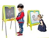 Shinehalo Lavagna Magnetica per Bambini Tavola da Disegno di Cavalletto Doppio Lato, Lavagna Magnetica Regolabile in Altezza da 35 cm a 96 cm, Pieghevole Portatile di Grandi Dimensioni Doodle Tavolo da Disegno per Bambini