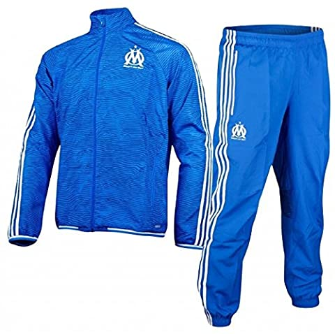 ADIDAS Survetement Officiel de l Olympique de Marseille OM EU haut+Bas bleu (S)