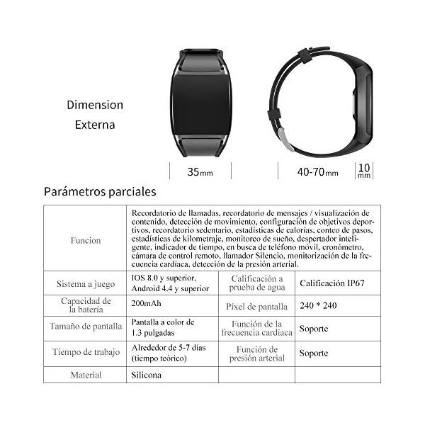 HalfSun Impermeable IP67 Smartwatch, HD Color Screen,Pulsera Inteligente con Pulsómetro, Monitor de Presión Arterial,Monitor de Calorías, Sueño, Podómetro,Pulsera Actividad para Android y iOS 9