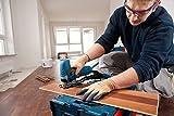 Bosch Professional Stichsäge GST 90 E (1x Sägeblatt, Absaug-Set, Spanreißschutz, Koffer, Schnitttiefe in Holz: 90 mm, 650 Watt)