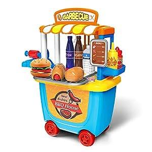 GizmoVine Giocattolo Set, Giochi d'imitazione Giocattolo educativo per Bambini Ragazzo Ragazza da 2 3 4 5 Anni (Barbeque)