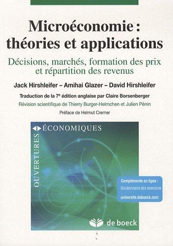 Microéconomie : théories et applications : Déci...