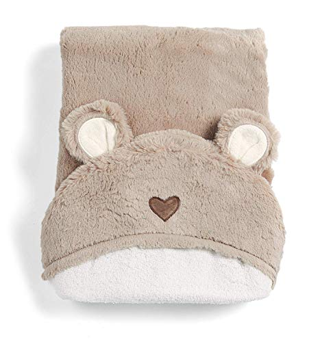 Mamas & Papas Hooded Towel, Baby Towel, Soft, Bear - Millie & Boris