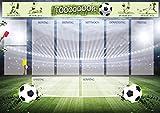 Schreibtischunterlage Papier Motiv Fußball, mit transparenter Schutzkante, 60x42cm Block mit 25 Blatt, Schreibunterlage
