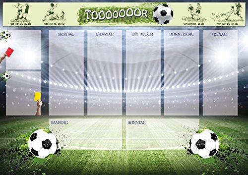 e Papier Motiv Fußball, mit transparenter Schutzkante, 60x42cm Block mit 25 Blatt, Schreibunterlage ()