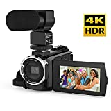 Andoer 4K 48MP Digital Video Camera with IR Night Sight Support 16X Zoom