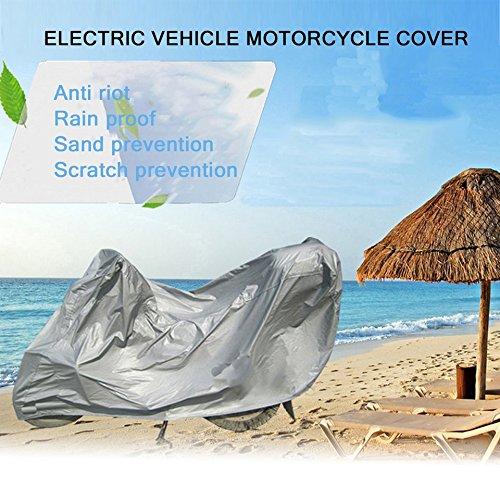 Cosye Telo coprimoto Protettivo Completo Anti UV Impermeabile Antipolvere Antipioggia Moto Traspirante Cappuccio Tenda Esterna Coperta