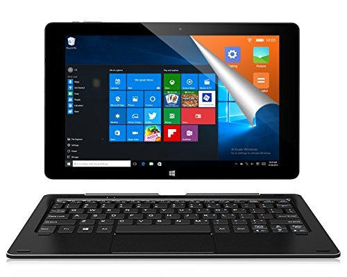 ALLDOCUBE iwork10 Pro Tablet PC con Teclado, 10.1 Pulgadas 1920x1200 IPS Pantalla, Windows 10 + Android 5.1, Intel Atom X5 Z8350 Quad Core, 4GB RAM 64GB ROM, Negro