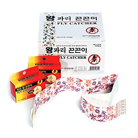 FLY CATCH - Glue Trap Flies Mosquito Moths Fruit-Flies Repellent - Disposable Non-Toxic Sticky Glued Paper - 100 Traps (1.5