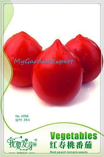25pcs / bag Red Peach Tomatensamen Gemüsesamen, Samen Gemüse, Gemüsegarten Samen Pflanze Bonsai für Garten-freies Verschiffen