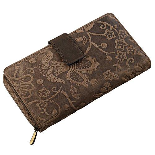 STILORD 'Greta' Monedero o cartera de piel para mujer para tarjetas pasaporte billetes - del joven fabricante de la marca STILORDCartera fabricada con piel de alta calidad, para asegurar calidad y estilo.Este monedero de tamaño ha sido creado para mu...