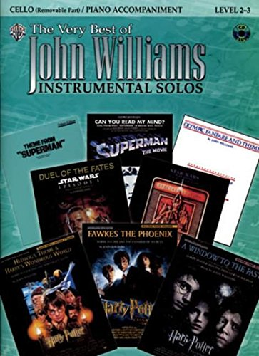 Price comparison product image The Very Best of John Williams for Strings: Cello (with Piano Acc.) (Book & CD): Cello and Piano Accompaniment Level 2-3