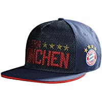 FC Bayern München FLATCAP KIDS Kappe 4 Sterne Kinder navy Emblem