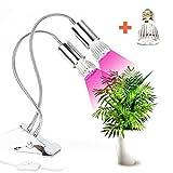 Opard Doppelkopf Pflanzenlampe