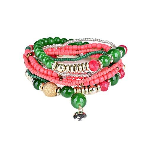 Yosemite vintage Boho Bracelet multi rangs de perles Bracelet fait à la main Bracelet Cadeau Taille unique F
