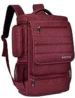Laptop Backpack ,SOCKO 17 Inch Multifunctional Unisex Luggage & Travel Bags Knapsack,rucksack Backpack Hiking Bags Students School Shoulder Backpacks Fits Up to 17.3 Inch Laptop Macbook Computer,Red