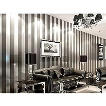 Einfache Moderne Schlafzimmer, Wohnzimmer Und Schwarz   Weißen Vertikalen  Streifen Des Östlichen Mittelmeers Tapete 9