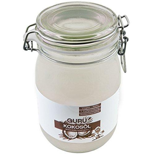 Guru Kokosöl nativ & naturrein – Rohkost & Vegan – 1000ml - 2