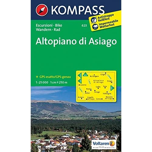 Carta Escursionistica N. 623. Altopiano Di Asiago 1:25.000. Adatto A Gps. Digital Map. Dvd-Rom