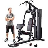 MARCY Unisex– Erwachsene Heim-Gym mit 90kg Gewichtsblock Kraftstation, Schwarz, One Size