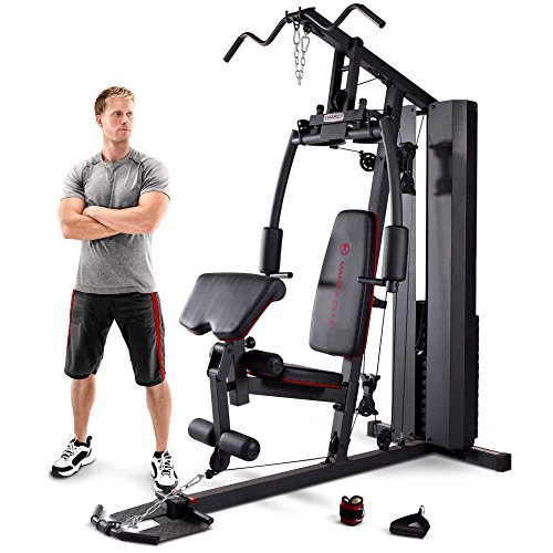 Marcy MKM-81010 Home Multi Gym with 90 kg Stack - Black/Grey, One...