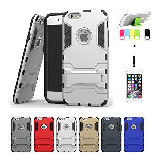 iPhone 6Cas, Fashion Coque en TPU Housse de protection pour iPhone 6Coque 11,9cm avant avec stylet/film de protection d'écran transparent/Support argent