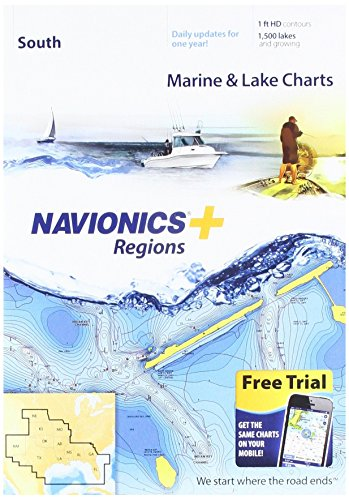 Navionics Plus Regions South Marine and Lake Charts auf SD/MSD -
