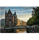 LXHLAN Hamburg City View Landschaftsmalerei Färbung Nach Zahlen Digitale Handgemalte Leinwand Malerei Für Wohnkultur 40X60 cm Kein Rahmen