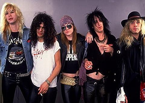 6 grands Guns N'Roses Rock Music Band métal Motif Album Photo Format A3 Poster Best Unique