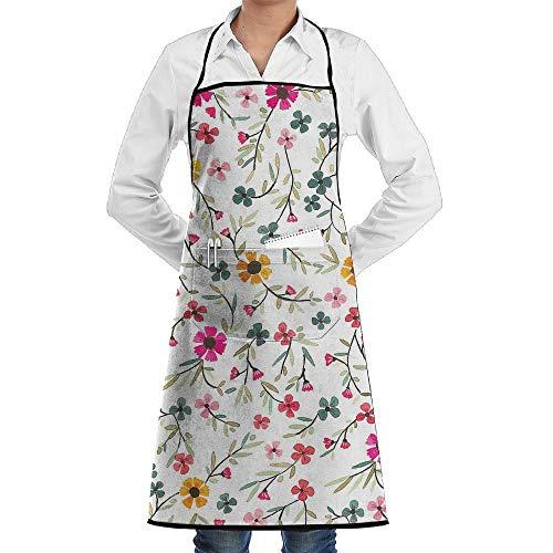 Küche, die Garten-Schürze kochtn, Bib Apron with Pockets Small Daisy Durable Cooking Kitchen ()