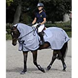 couvre-reins anti-mouches anti-UV Buzz-off Riding Azul Gris 125cm