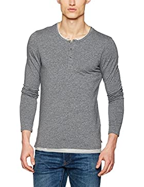 Scotch & Soda Herren Langarmshirts Longsleeve Tee in Jersey Quality With Fake Double Layer in C
