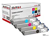OBV 4X kompatibler Toner ersetzt Oki 46490608 46490607 46490605 46490606 für Oki c 532 C532DN C542DN c542 MC563DN mc563 MC573DN mc 573 Schwarz, Gelb, Cyan, Magenta
