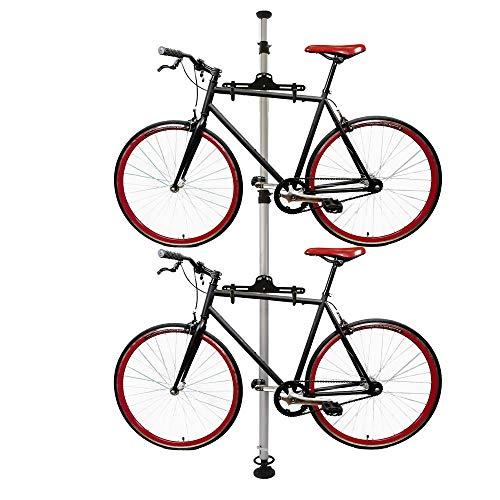 Cablematic - Caballete para aparcar dos bicicletas colgadas con sistema de presión...