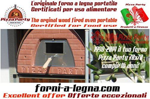 Original wood fired oven Pizza Party 70x70